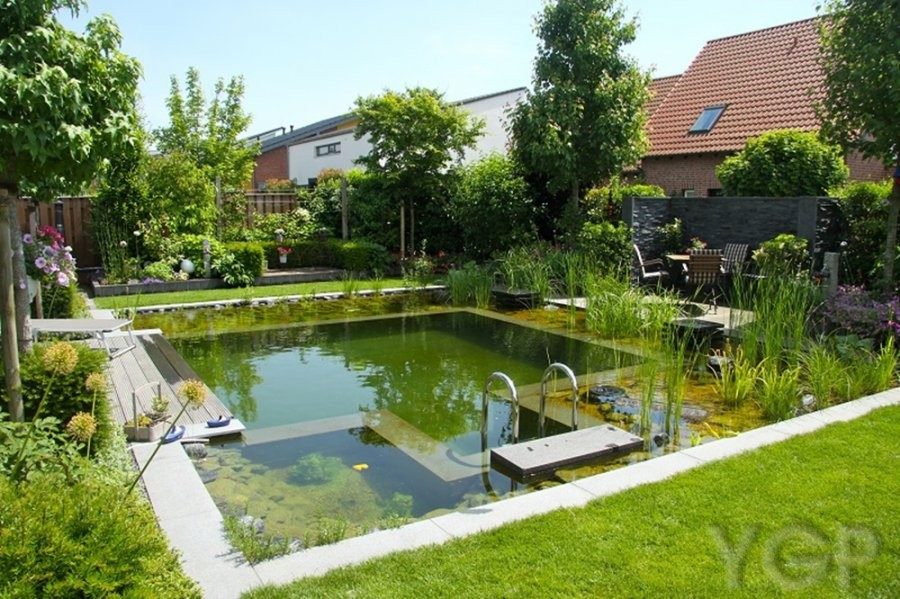Natural Swimming Ponds Design. A Natural Pool Satisfies Our Longing For  Rest And Relaxation. The Peaceful Water Adds A New Dimension To The Garden,  ...