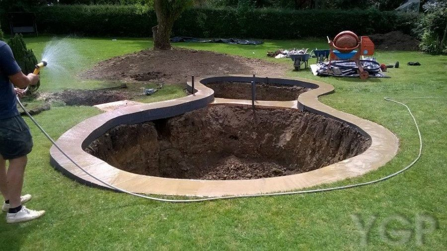 Pond design and building ygp pond services for Koi pond bottom drain design